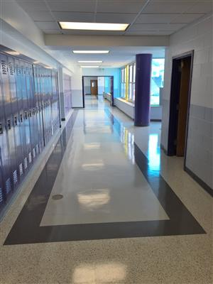 Renovated Hallway Roslyn Middle School