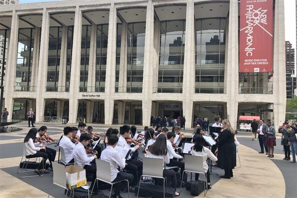 Roslyn Middle School Strings perform at Lincoln Center