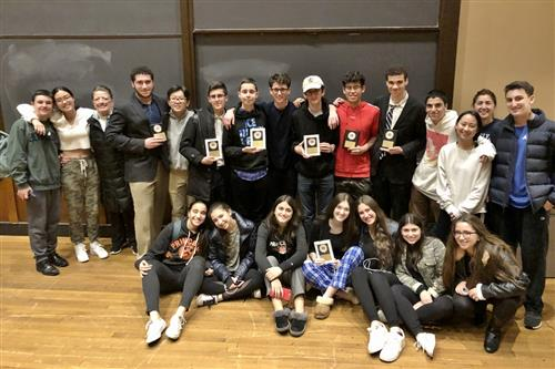 Roslyn High School students at Princeton Speech & Debate Tournament