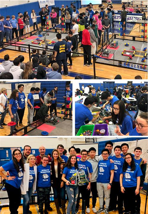 Roslyn High School hosts its first robotics competition