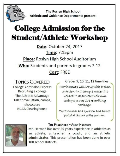 College Admissions for the Student Athlete Workshop