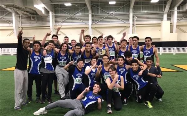 Boys Winter Track Earns Conference Championship