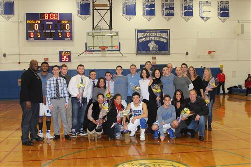 Varsity Boys Basketball Senior Game