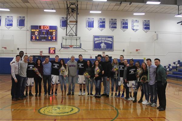 Varsity Boys Basketball Senior Game - 2018