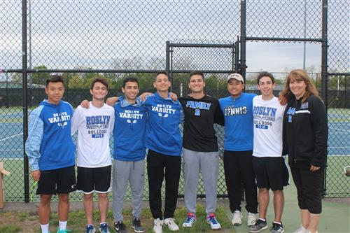 Senior Tennis Players and Coach