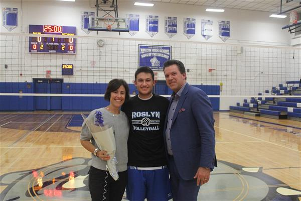 Varsity Boys Volleyball Player and Family
