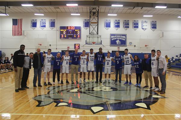 Varsity Boys Basketball Recognizes School Community Members