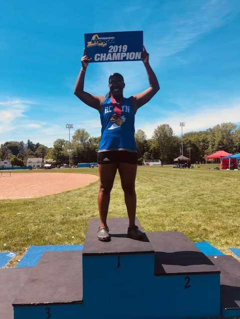 Natya Glasco is the New York State Federation Shotput Champion
