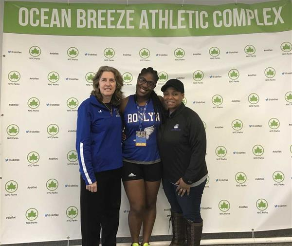 Natya Glasco with Coach Lapin and Coach Trenchfield