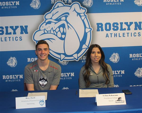 Roslyn Athletes Sign National Letters of Intent