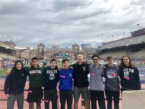 Roslyn High School's relay Team Competes at the Penn Relays