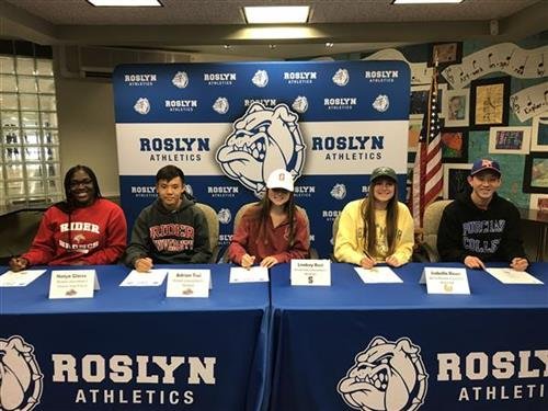 Seniors sign their athletic letters of intent
