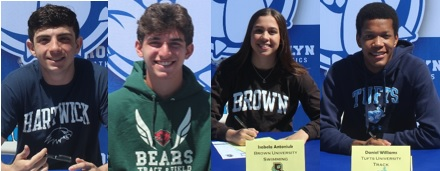 Roslyn Athletes Commit to Play at the Collegiate Level - 2020