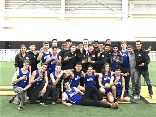 Boys Winter Track Team - Conference Champions 2017-18!