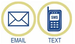 Sign Up For Text Message and Email Alerts