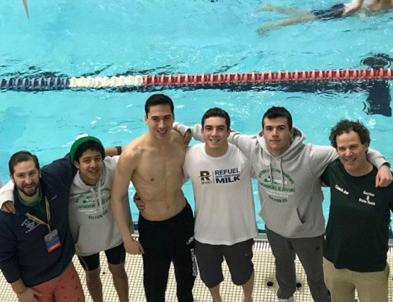 Boys Swim Team at the State Meet