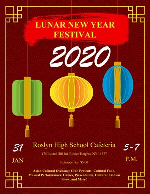Lunar New Year Festival poster