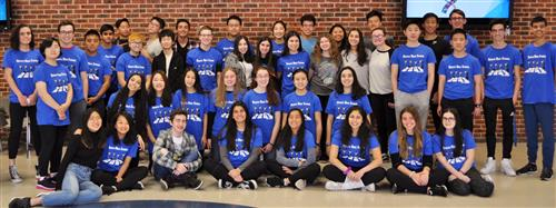 Roslyn High School student volunteers for the NYSSMA Festival