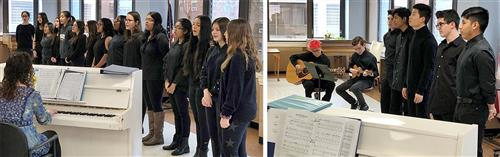 Choirs from Roslyn High School perform for senior residents at SunHarbor
