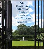 Adult Education Spring 2018 catalog cover