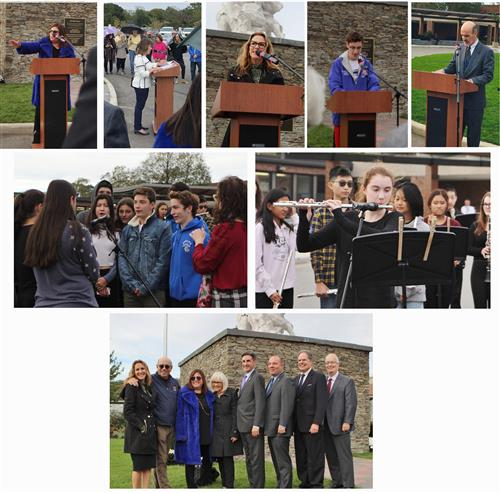 Images from the Horse Tamer Re-Dedication Ceremony at Roslyn High School, October 10, 2019