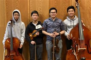 Four Roslyn High School students attended Long Island String Festival