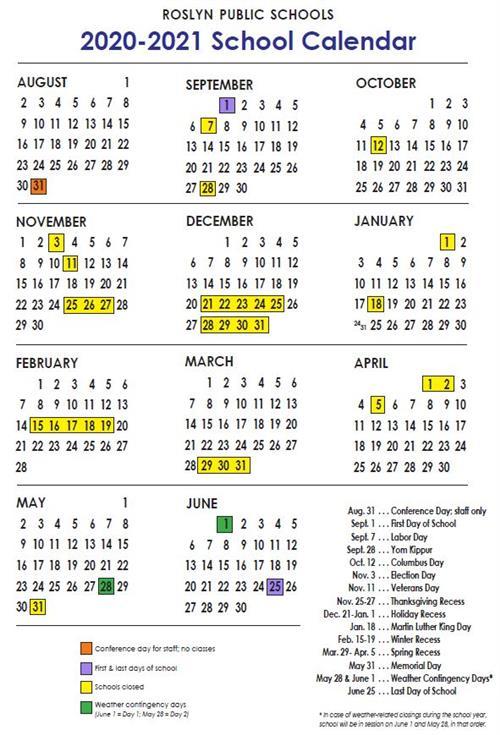 Nyc School Calendar 2021 School Calendar 2020 21