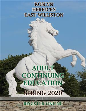 Cover of Roslyn Adult Education Spring 2020 catalog