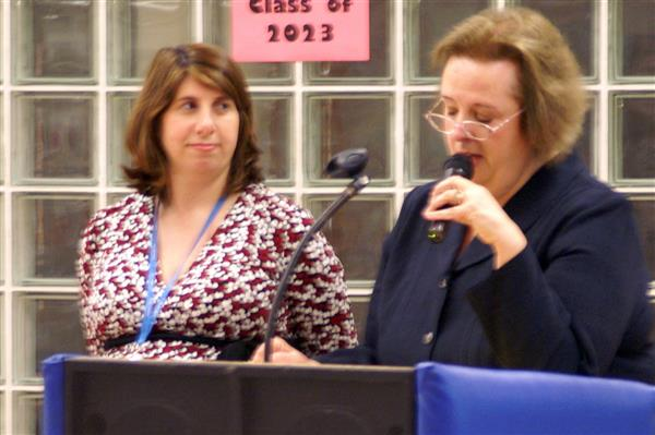 Mary E. Wood and Regina Colardi, future and current principals at Heights School