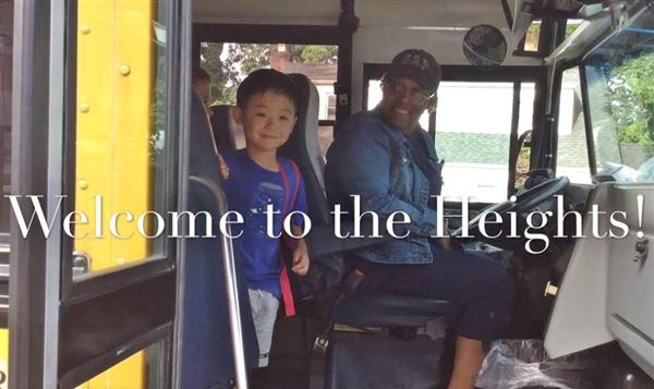 Welcome back to Heights -- student and bus driver