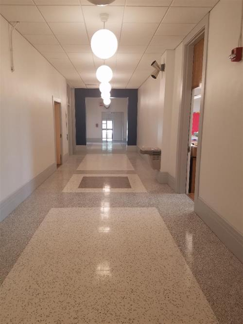 newly renovation Heights School hallway