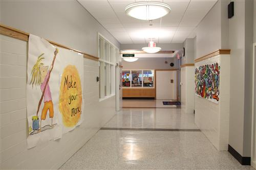East Hills School main hallway