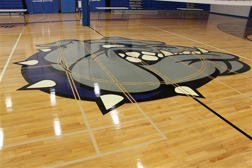Gymnasium floor, Roslyn High School