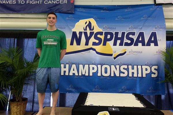 Orry Zayit Finishes 2nd in 100-meter butterfly at New York State Championship