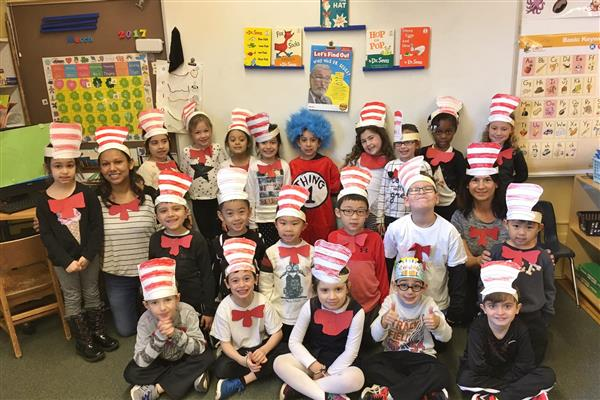 Dr. Seuss's Birthday celebrated at Heights School