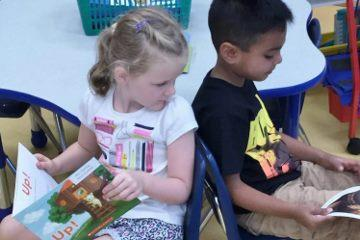 Reading partners at Heights School